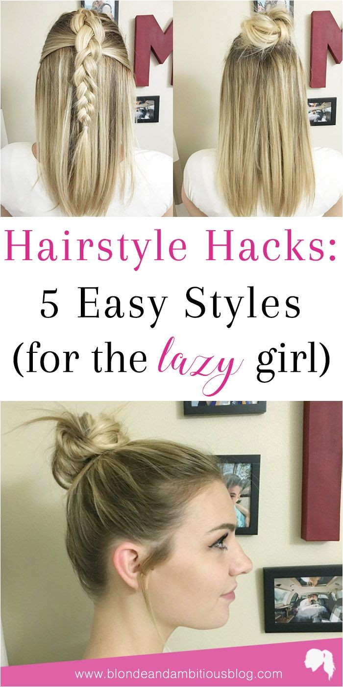 Basketball Hairstyles for Girls Hairstyle Hacks 5 Easy Styles Braids Pinterest