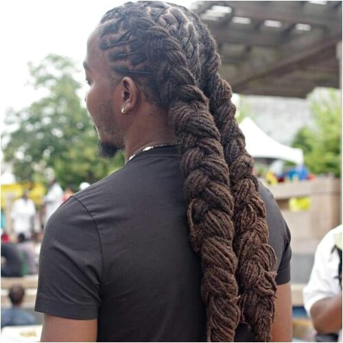 Braided Dreads Hairstyles for Men 50 Memorable Dreadlock Styles for Men Men Hairstyles World