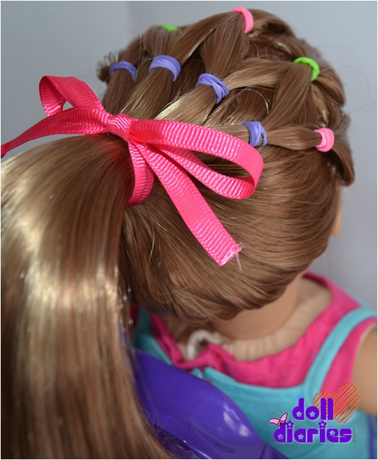Cute Hairstyles for Ag Dolls Easy Easter Hair Do for Dolls