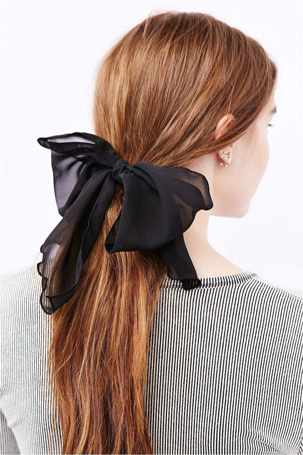 Girls Bow Hairstyle Drapey Chiffon Hair Bow Girls Hair Clips & Barettes