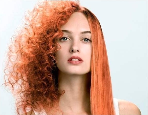Half Straight Half Curly Hairstyles Half Curly Half Straight Hair