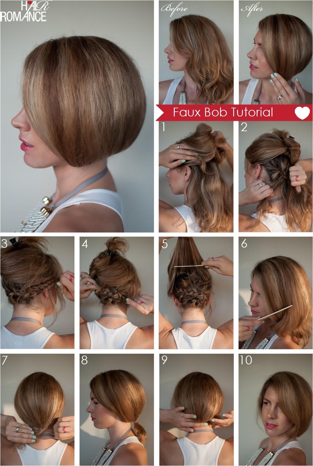 How to Cut A Long Bob Haircut Yourself Hair Tutorial How to Create A Faux Bob Hair Romance