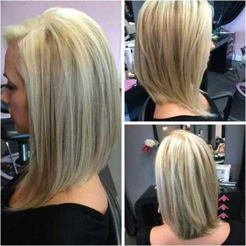 Medium Length Angled Bob Haircut 20 Short to Mid Length Haircuts