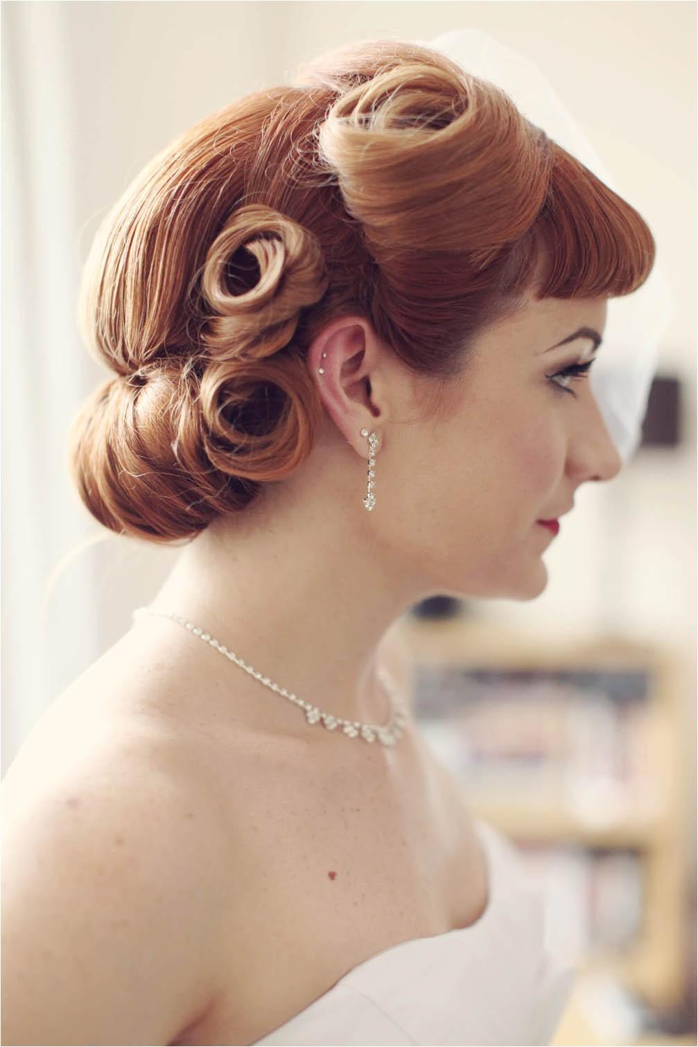 1950 Wedding Hairstyles Haywood Jones Photography 50s Wedding Cardiff 7 · Rock N