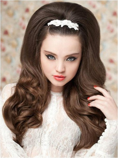 60s Wedding Hairstyles Wedding Hairstyles for Long Hair 60s Style