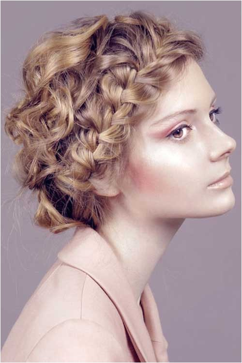 Easy Braided Hairstyles for Curly Hair 15 Easy Hairstyles for Short Curly Hair