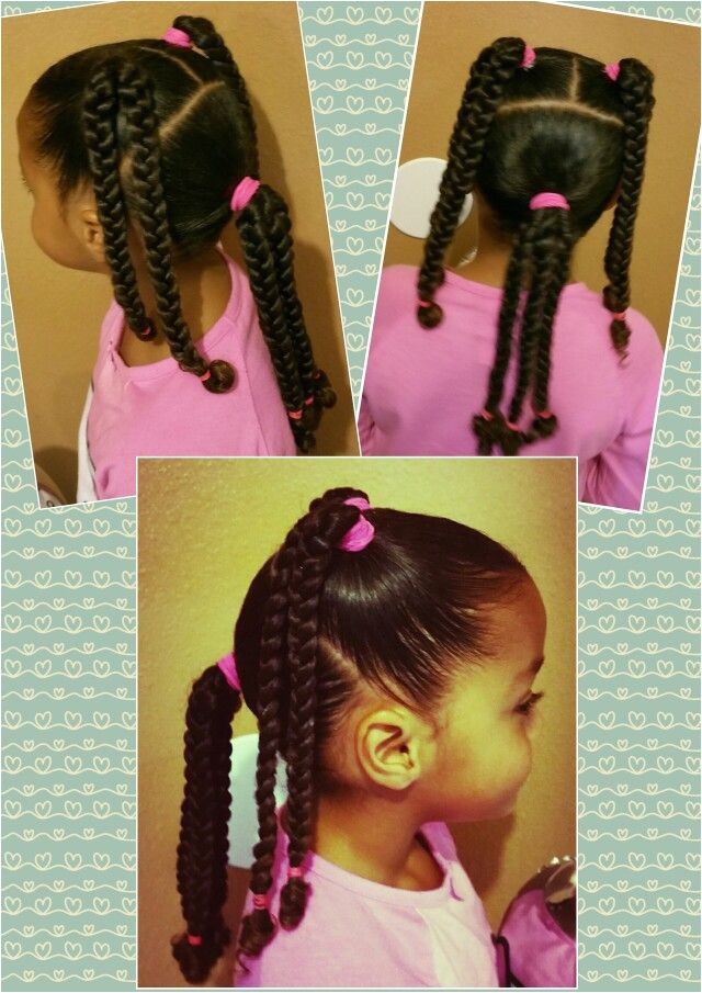 Easy Hairstyles for Mixed Kids Mixed Black Braids Girls Kids Curly Curls Natural Hair