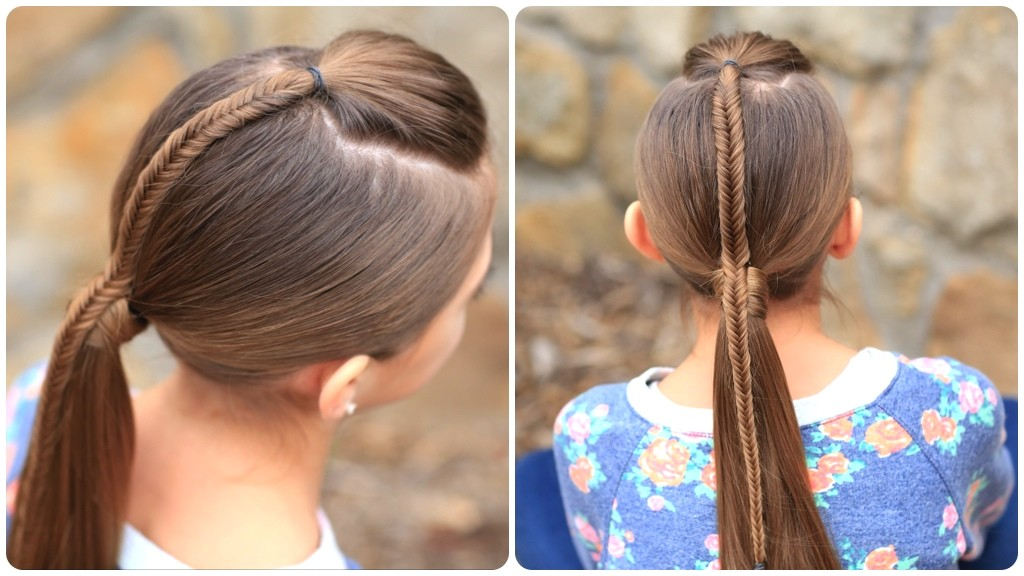 Easy Hairstyles for Sports Fishtail Accented Ponytail Hairstyles for Sports