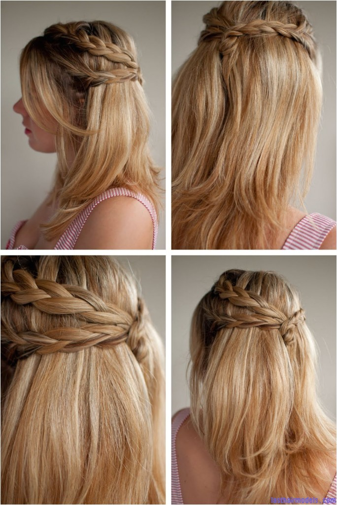 Easy Hairstyles with Only A Hair Tie the Half Tie Look the Most Feminine and Easy