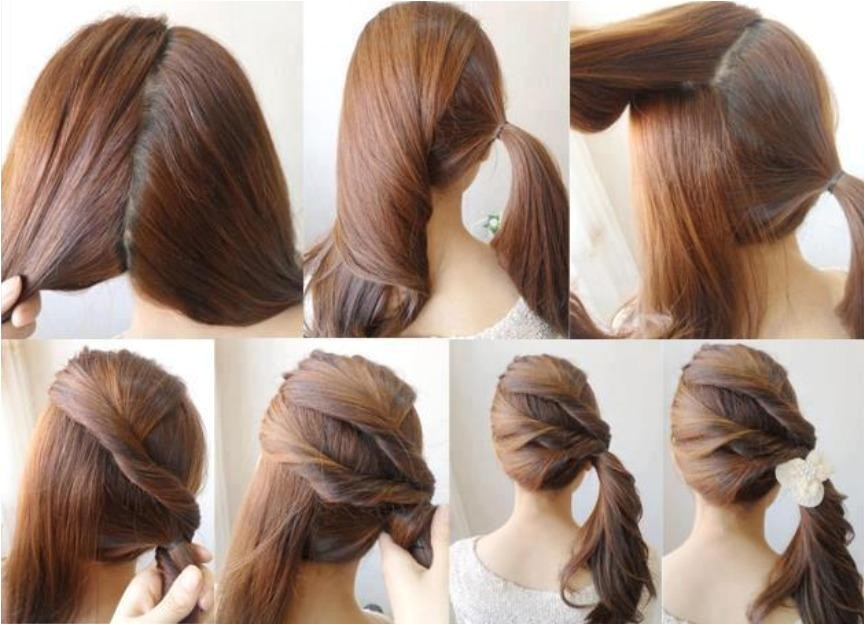 Easy Steps to Do Hairstyles Simple Diy Braided Bun & Puff Hairstyles Pictorial