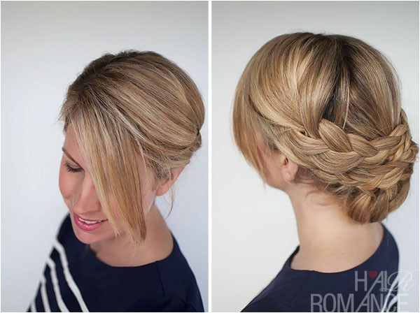 Easy Upstyle Hairstyles Hairstyle How to Easy Braided Updo Tutorial Hair Romance