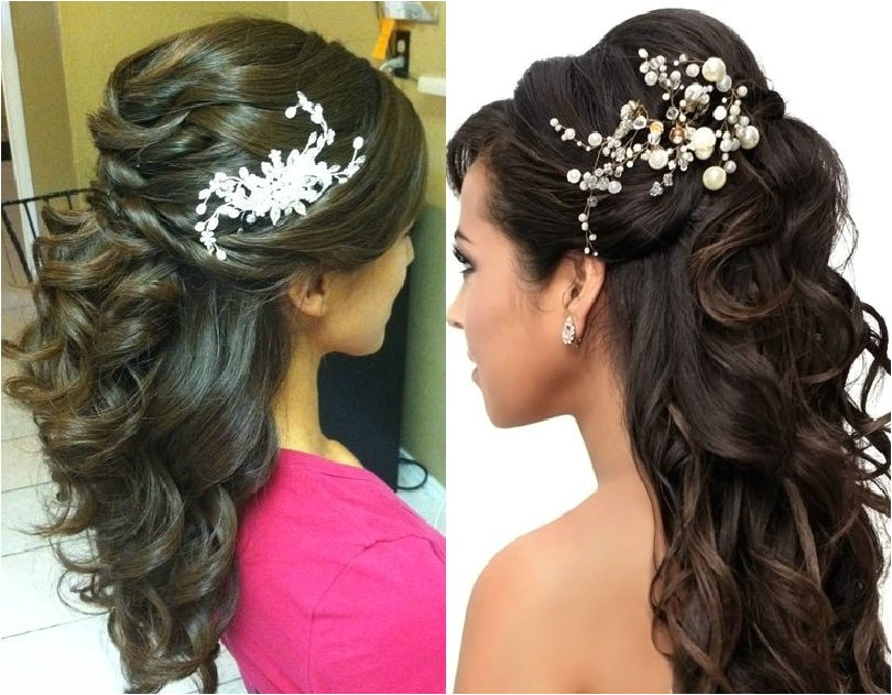 Hairstyle In Wedding Party Tutorial Half Up Half Down Party Hairstyle Indian