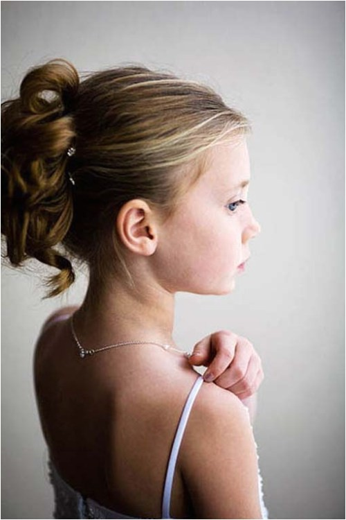 Hairstyles for Girls In Wedding Hairstyles for Flower Girls with Tiara