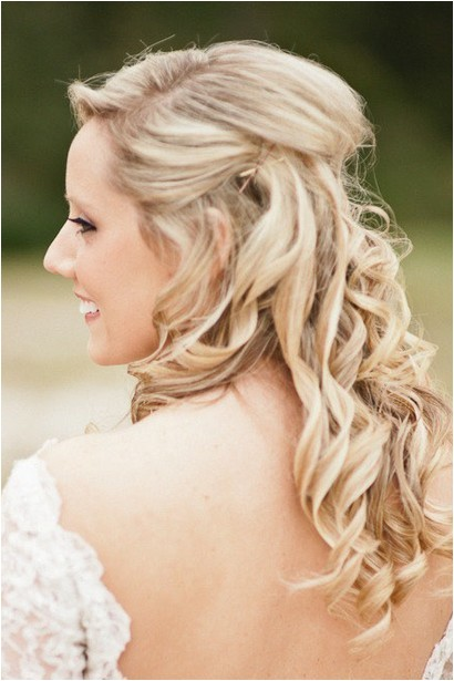 Half Up Straight Hairstyles for Weddings the Half Up Half Down Wedding Hairstyles