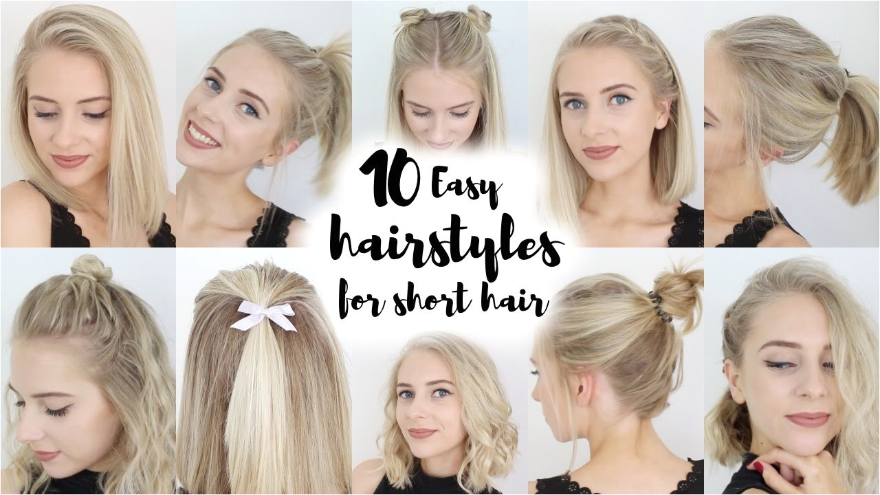 Quick and Easy Hairstyles for Short Hair for School 10 Easy Hairstyles for Short Hair