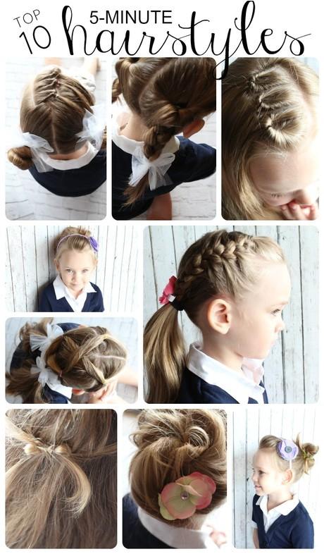 Ten Easy Hairstyles 10 Easy Hairstyles for School