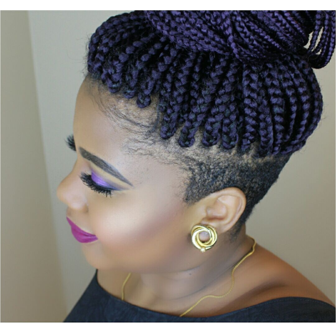 Hairstyles with Shaved Sides for Black Women Braids with Shaved Sides Braids by Juz Pinterest
