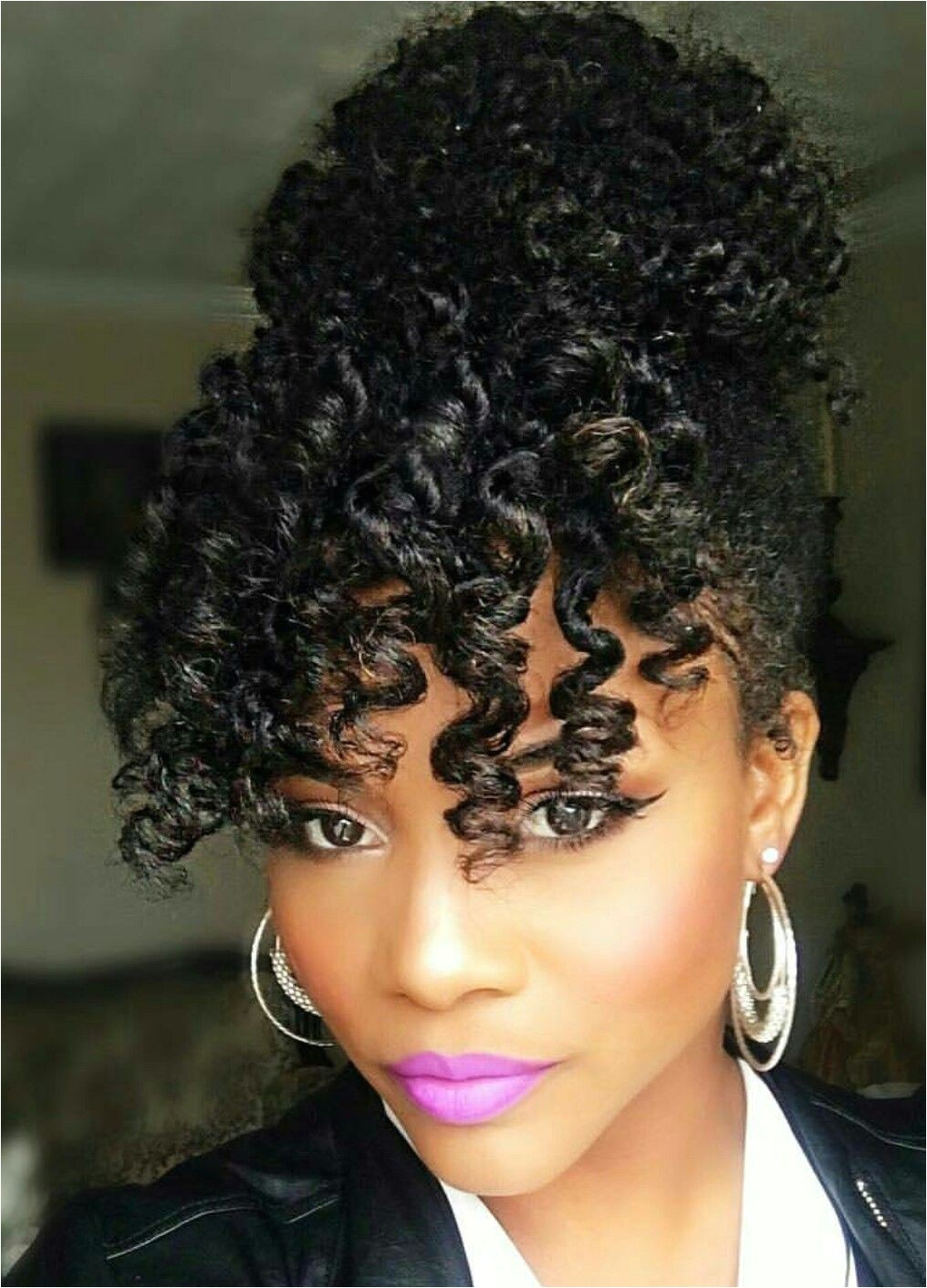 Urban Hairstyles for Women E Of the Cutest Naturalhair Hairstyles with A Bun and Bangs