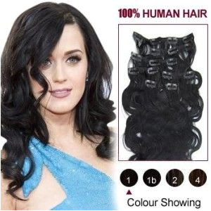 Hairstyles with Weave Clip Ins 38 Inch 7pcs Wavy Clip In Human Hair Extensions Clip80