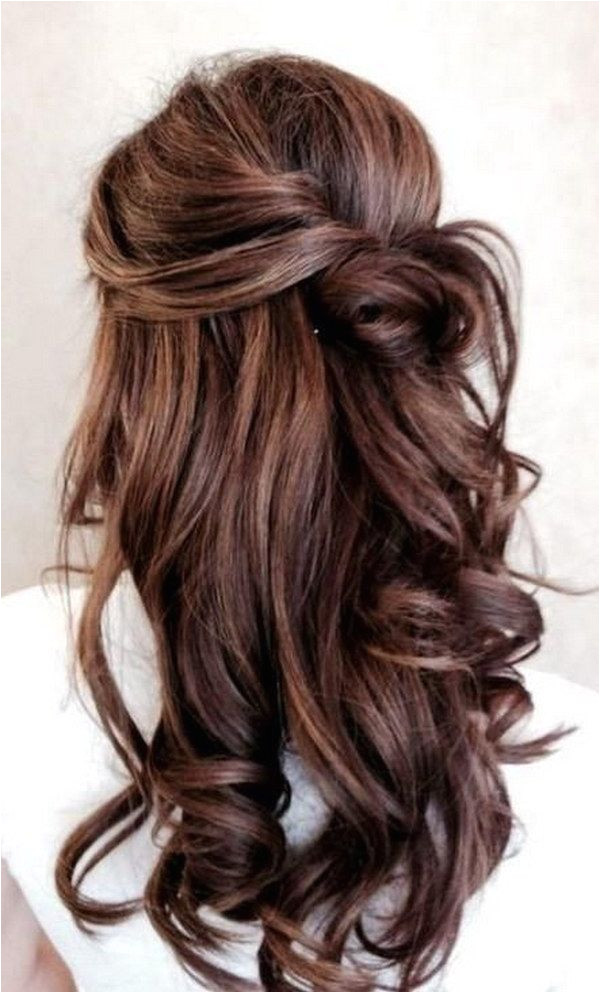 Pictures Of Bridesmaid Hairstyles Half Up 55 Stunning Half Up Half Down Hairstyles Prom Hair
