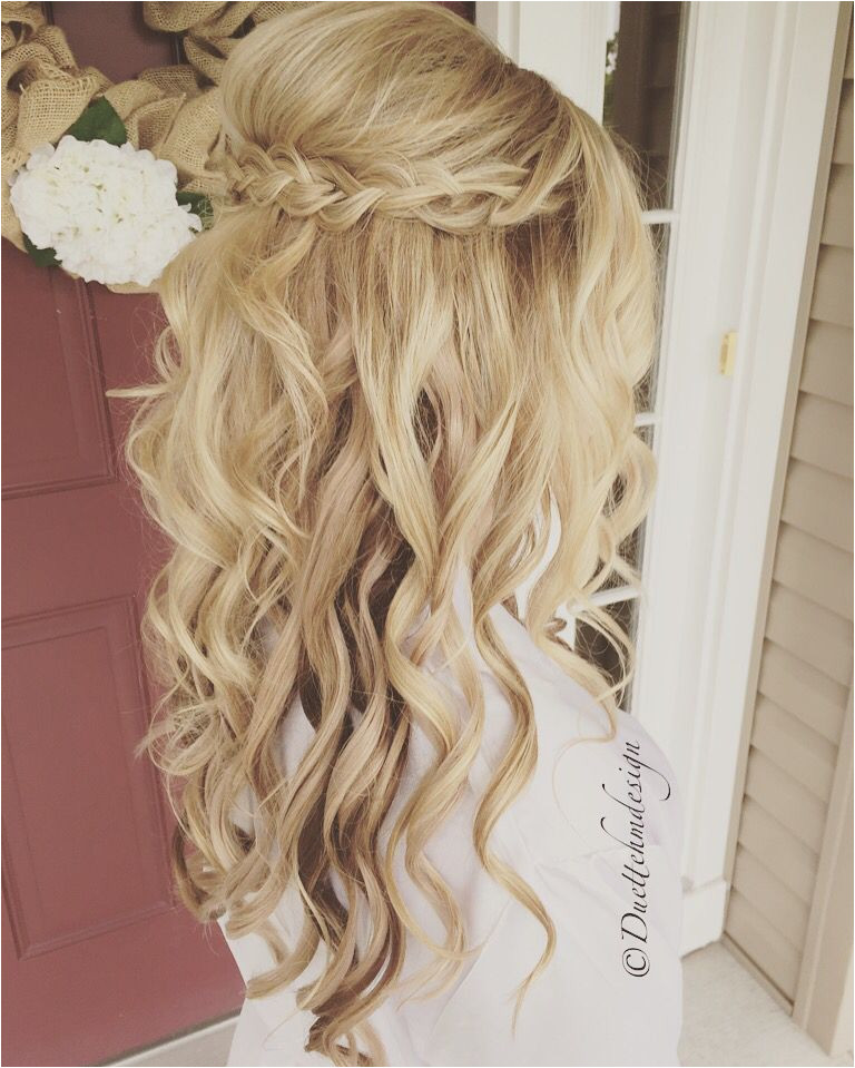 Wedding Hairstyles Half Up Bridesmaids Pin by Shelby Brochetti On Hair Pinterest