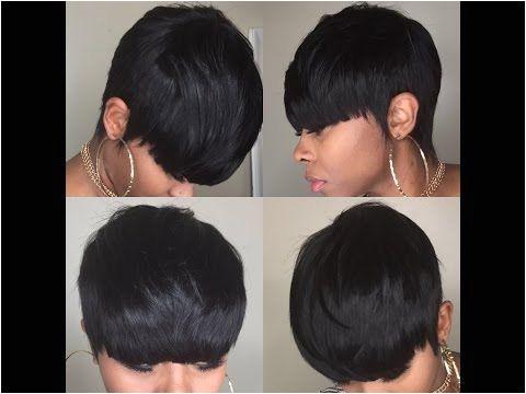 Black Hairstyles Razor Cut Bob Watch Me Slay Twenty 7 Piece Pixie Razor Cut