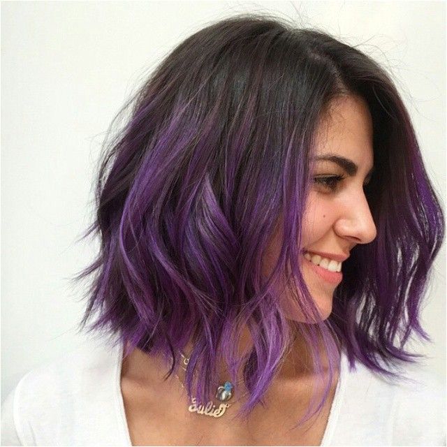 Bob Hairstyles with Dip Dye Purple Dipped Wob Color Mizzchoi Cut & Style Donovanmills at