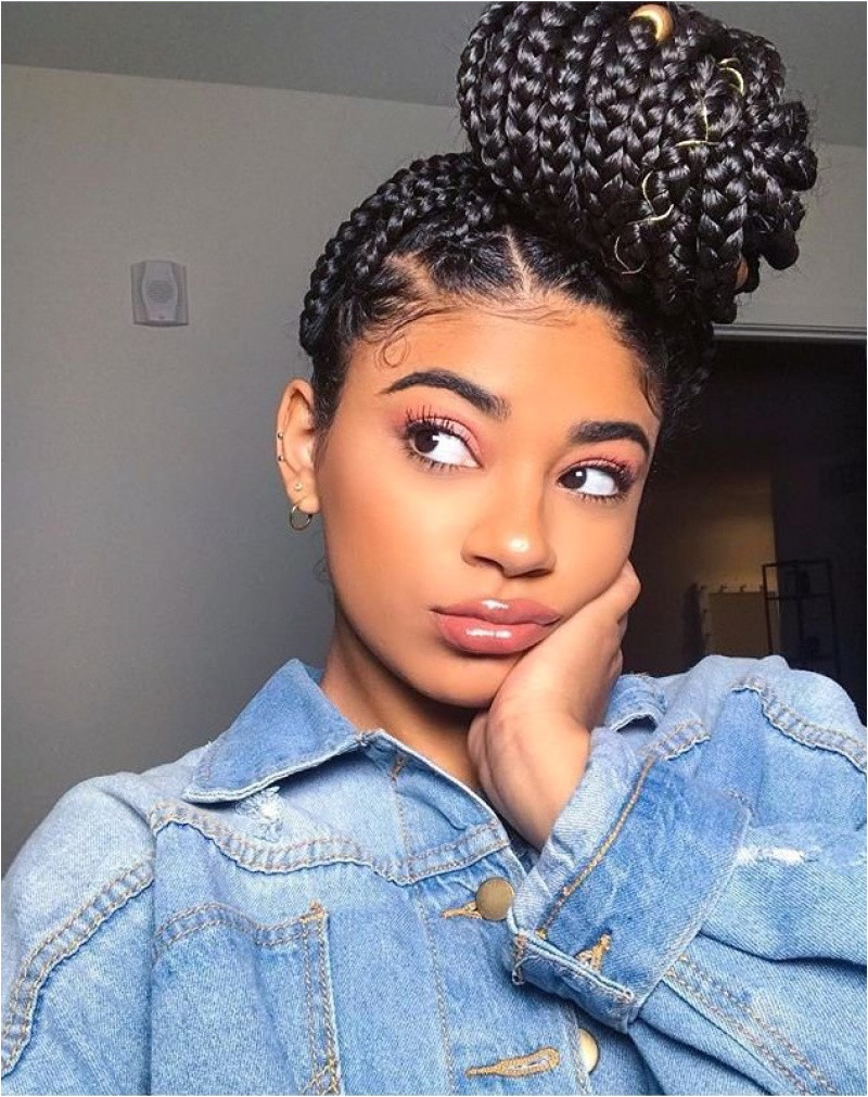 Buns Hairstyles for Black Hair Adorable Bun Hairstyles for Black Hair