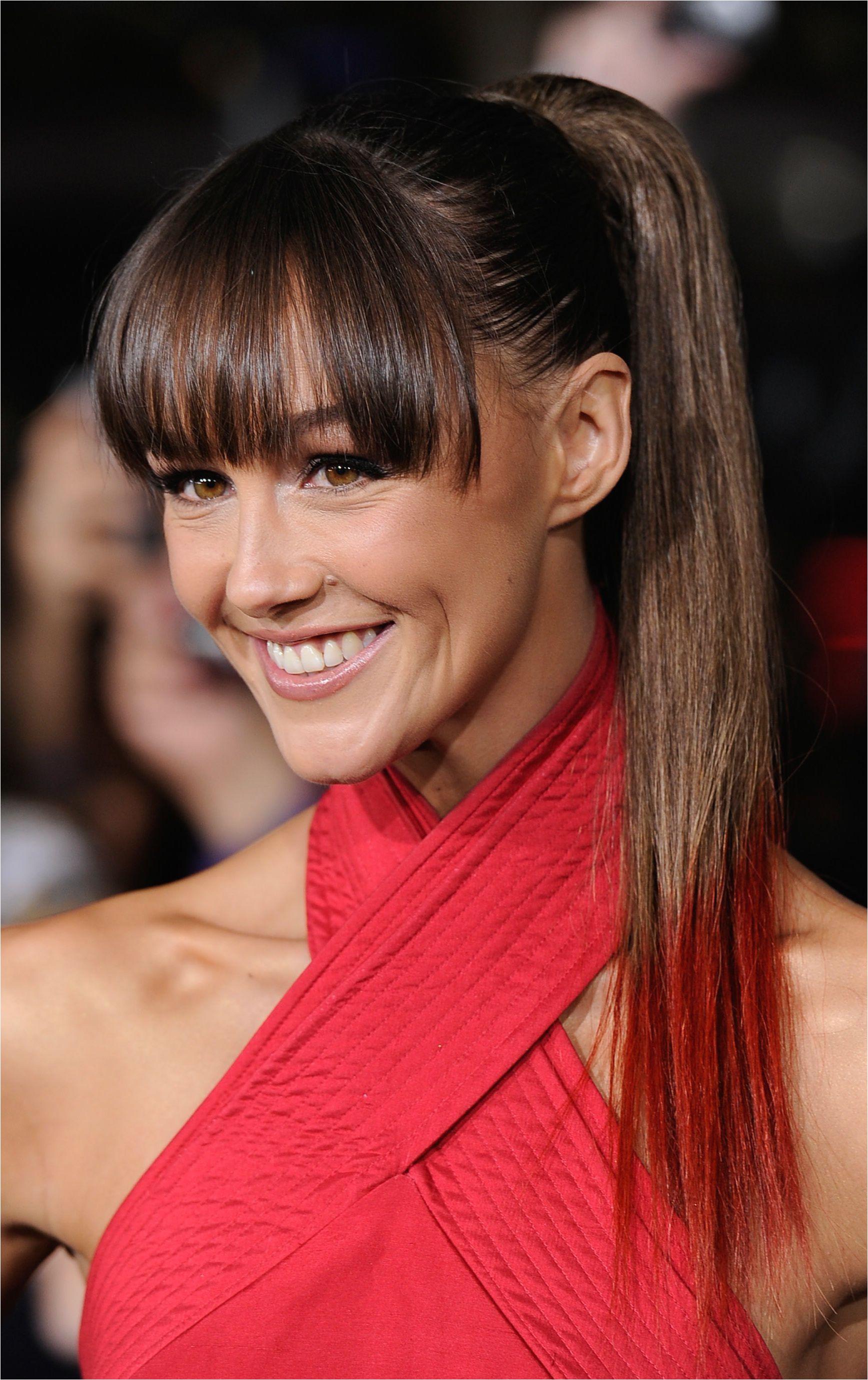 Dip Dye Hairstyles with Fringe Dip Dye Hair Color 20 Amazing Hairstyles