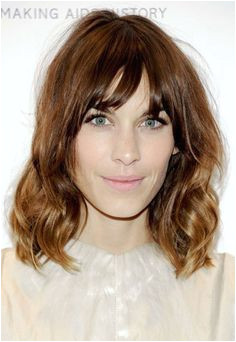 Dip Dye Hairstyles with Fringe Wavy Lob with Bangs Google Search Long Bobs