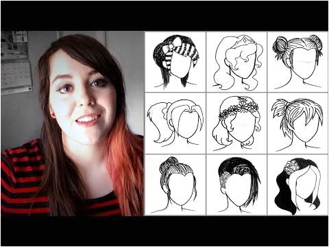 Drawing 50 Hairstyles Drawing 50 Hairstyles In Under 90 Seconds Trying to Draw