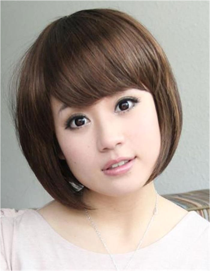 Korean Hairstyle for Round Face Female Hairstyle for Round Chubby asian Face Hair Pic