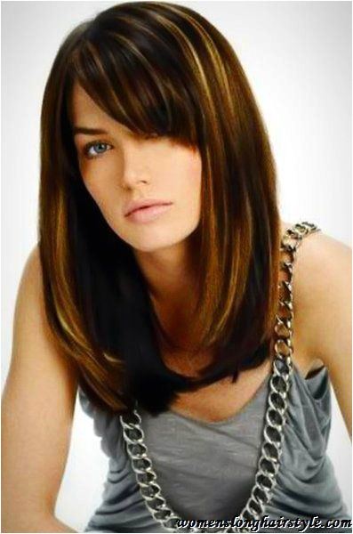 New Hairstyles with Side Bangs Popular Long Bob Hairstyle with Side Bangs