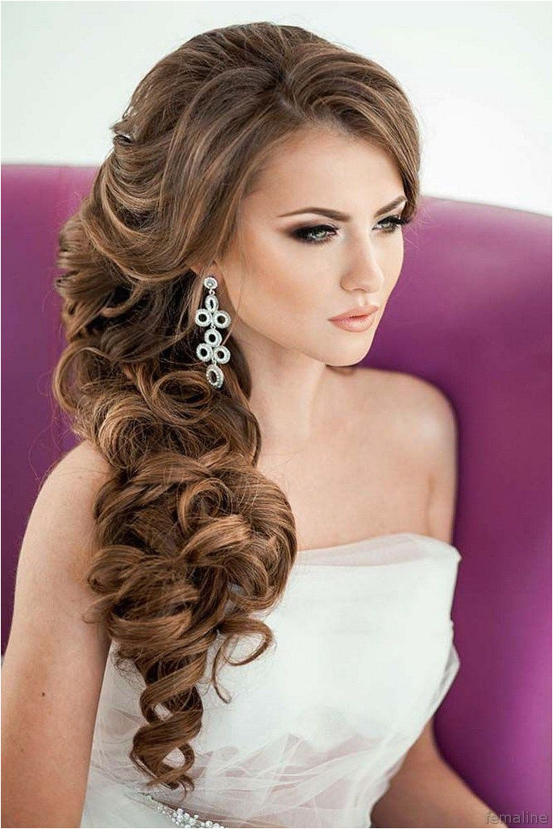 Side Curls Hairstyles Pinterest Elegant Bridal Hairstyles for Long Hair 119