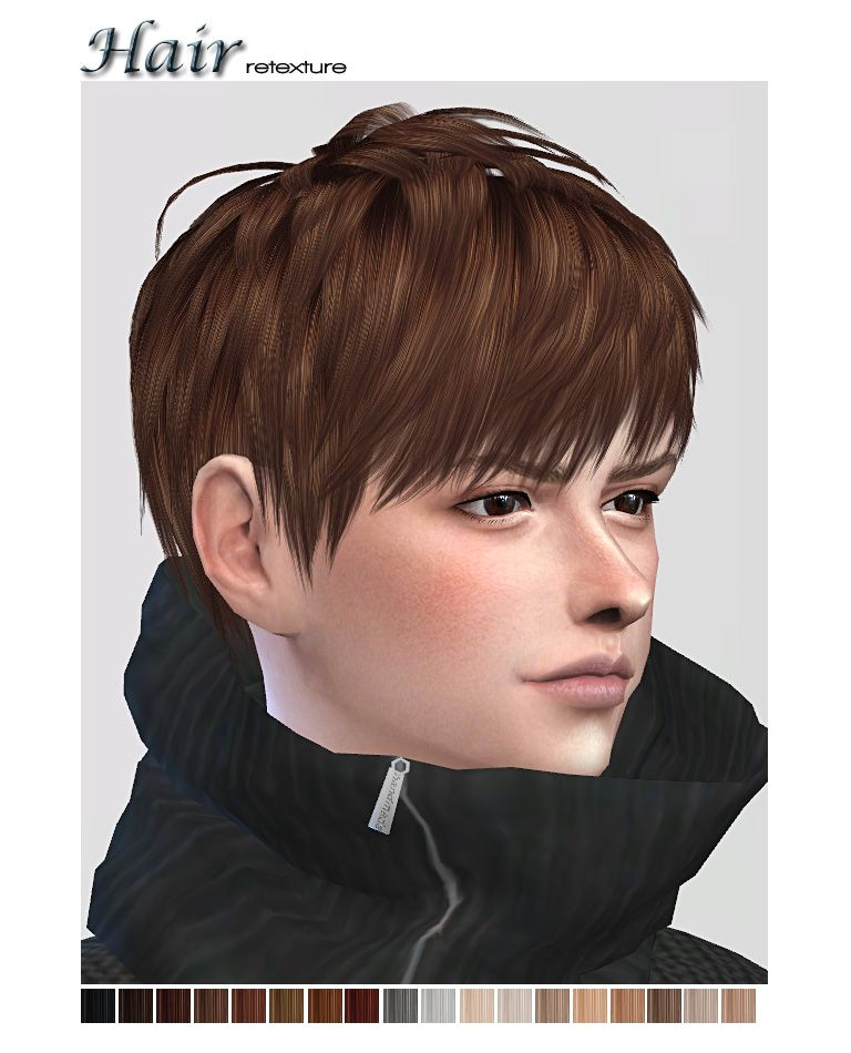 Sims 2 Male Hairstyles Download Hi … Texture Of Ryuffys Short Layered Hair… • Male Hair Teen