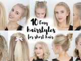 10 Easy School Hairstyles for Short Hair New Hairstyle for Short Hair Tutorial Hairstyles Library