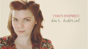 1940s Easy Hairstyles 1940′s Inspired Hair Tutorial