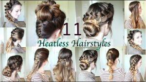 5 Heatless Hairstyles for School 11 Heatless Hairstyles Diy Hairstyles