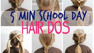 5 Minute Easy Hairstyles for School 5 Minute School Day Hair Styles Fynes Designs
