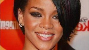 8 Inch Bob Hairstyles Custom Super Star Rihanna Hairstyles Short Straight 8 Inches Black