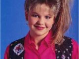 90 S Haircuts D J Tanner S Frosted Side Ponytail Early 90s Fashion