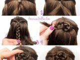 American Girl Doll Hairstyles for Long Hair Easy American Girl Doll Hairstyle Half Up Braided Bun