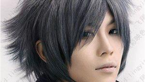 Anime Haircut Hairstyles Black Gray Hair Google Search Hair In 2019