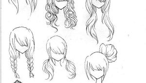 Anime Hairstyles Easy Draw Realistic Hair Drawing Ideas