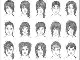 Anime Hairstyles Male Real O Desenhar Mangá Gabaritos De Cabelos