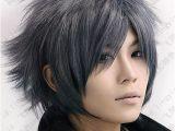 Anime Hairstyles Short Hair Black Gray Hair Google Search Hair In 2019