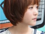 Asian Short Hair 2019 Sweet Layered Short Korean Hairstyle Side View Of Cute Bob Cut In
