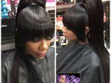 Black Hairstyles Bangs Ponytails Awesome Black Hair Weave Ponytail Hairstyles