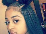 Black Hairstyles High Buns Half Up Half Down Two Buns Hair Make Up Pinterest