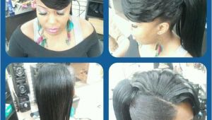 Black Hairstyles Ponytail with Side Bangs Pony with Side Swept Bangs Dope I Would Probably Bun It Up Really